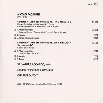 CD 6: Sonata Napoleone ; I palpiti ; Perpetuela ; Nel cor più non mi sento ; Duo merveille ; God save the King