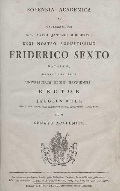 Commentarium anecdotum, de rebus gestis Færöensium