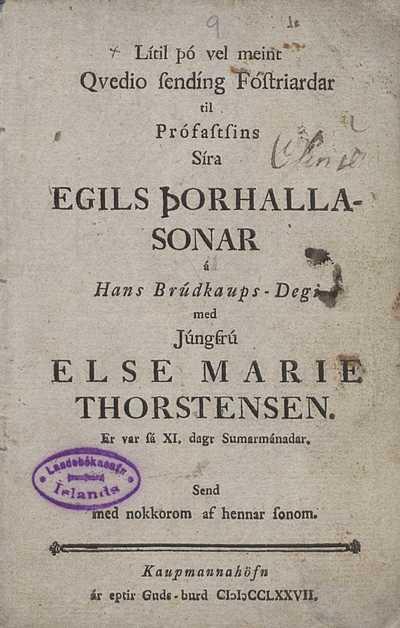 Lítil þó vel meint kveðjusending fósturjarðar