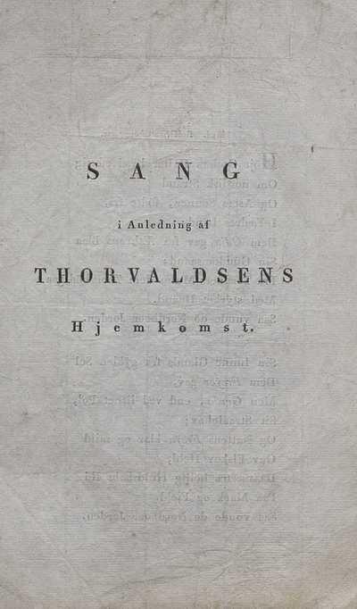 Sang i anledning af Thorvaldsens hjemkomst