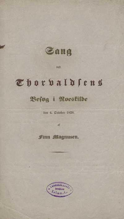 Sang ved Thorvaldsens besøg i Roeskilde