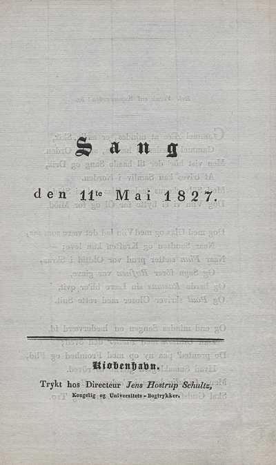 Sang den 11te mai 1827