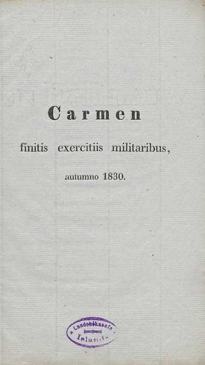 Carmen finitis exercitiis militaribus