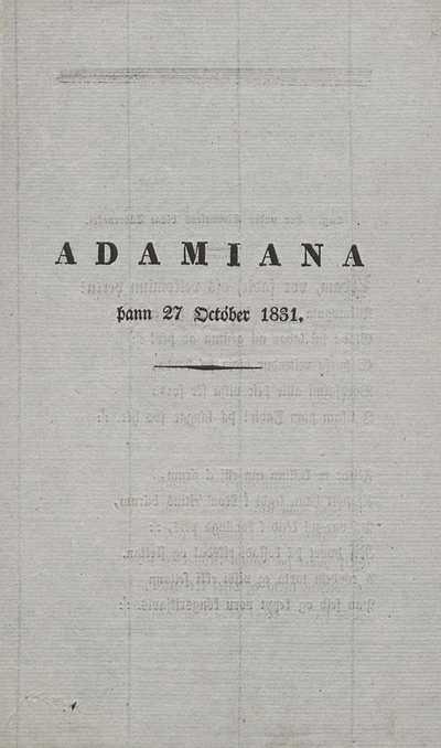 Adamiana þann 27. október 1831