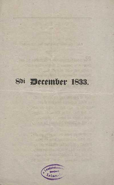 8. desember 1833