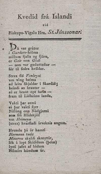 Kveðið frá Íslandi