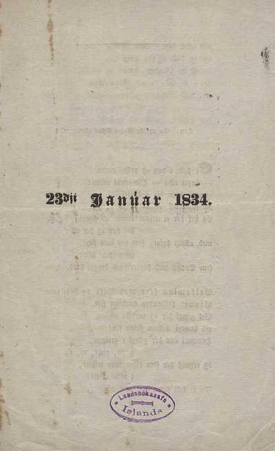 23. janúar 1834