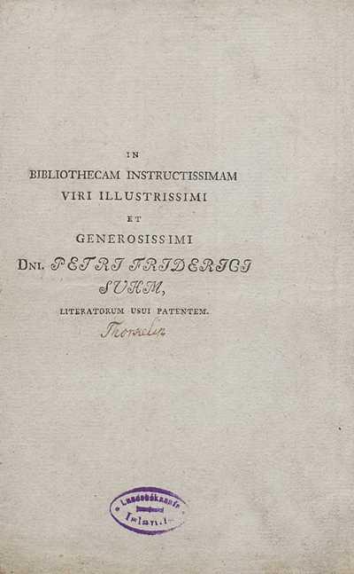In bibliothecam instructissimam