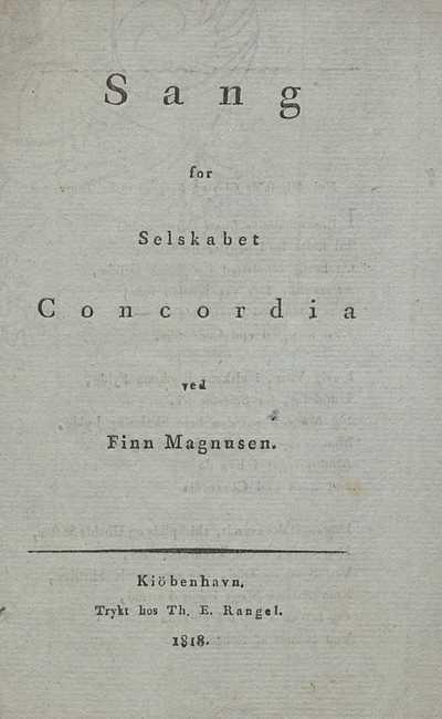 Sang for selskabet Concordia