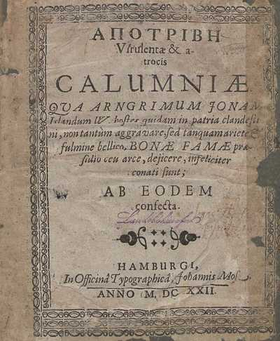 Apotrive virulentæ & atrocis calumniæ