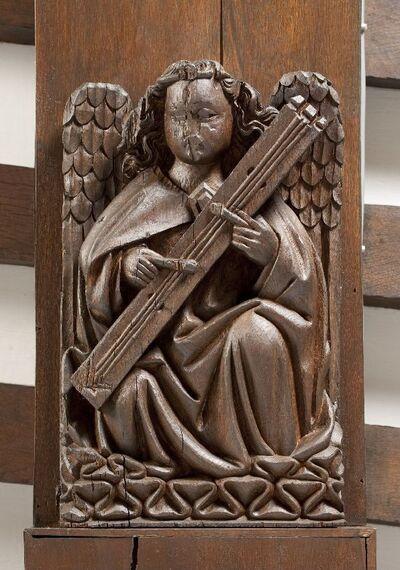 Musicerende engel met tambourin de Béarn