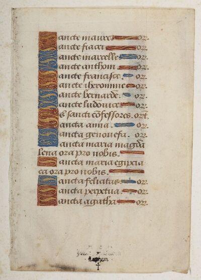 Getijdenboek met franse rubrieken
