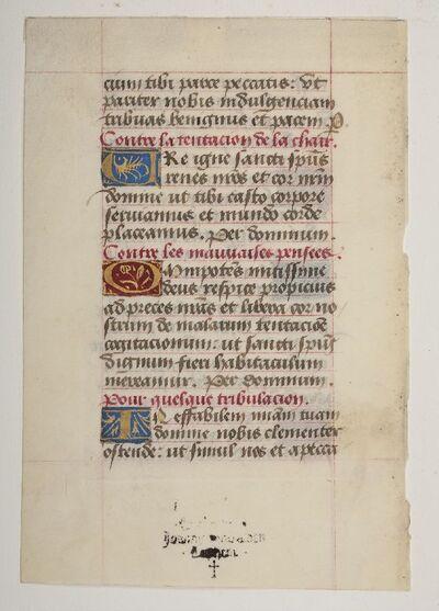getijdenboek met frans rubrieken