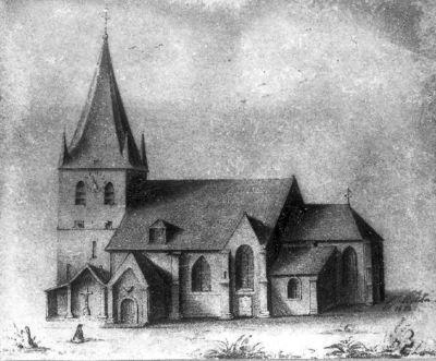 Tekening Sint-Laurentiuskerk