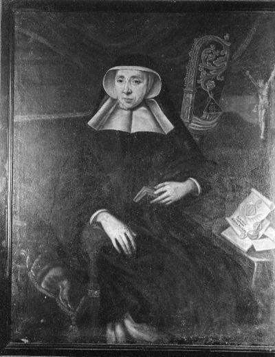 Portret van Claude de Mérode, abdis van Herkenrode (1675-1702)
