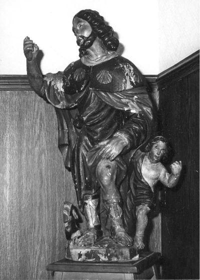 beeldengroep H. Rochus met engel