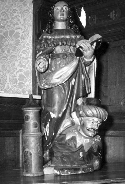 beeldengroep H. Catharina van Alexandrië en Porphyrus