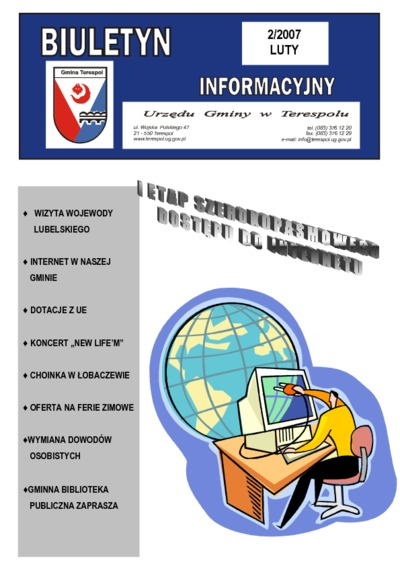 Biuletyn Informacyjny Urzędu Gminy w Terespolu R. 16 (2007) nr 2
