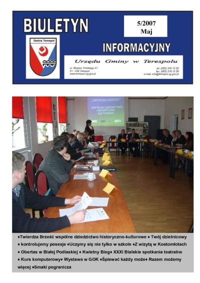 Biuletyn Informacyjny Urzędu Gminy w Terespolu R. 16 (2007) nr 5