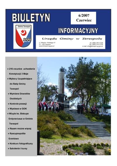 Biuletyn Informacyjny Urzędu Gminy w Terespolu R. 16 (2007) nr 6