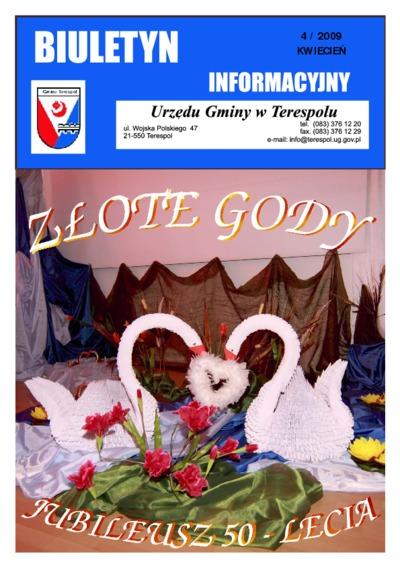 Biuletyn Informacyjny Urzędu Gminy w Terespolu R. 18 (2009) nr 4
