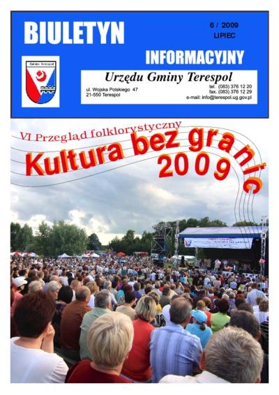 Biuletyn Informacyjny Urzędu Gminy w Terespolu R. 18 (2009) nr 6