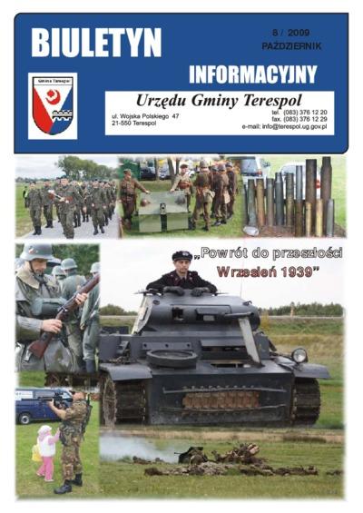Biuletyn Informacyjny Urzędu Gminy w Terespolu R. 18 (2009) nr 8
