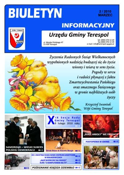Biuletyn Informacyjny Urzędu Gminy w Terespolu R. 19 (2010) nr 2