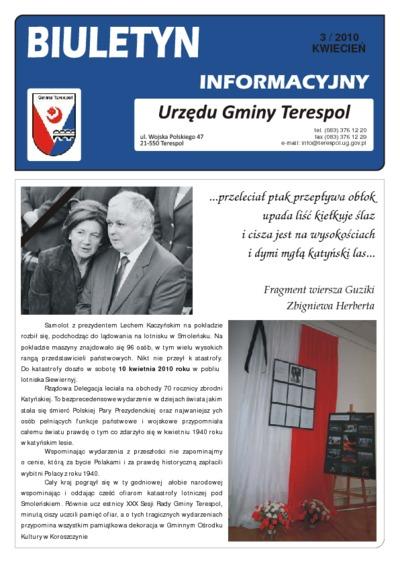 Biuletyn Informacyjny Urzędu Gminy w Terespolu R. 19 (2010) nr 3