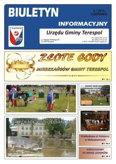 Biuletyn Informacyjny Urzędu Gminy w Terespolu R. 19 (2010) nr 5