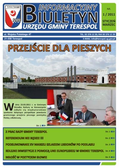 Biuletyn Informacyjny Urzędu Gminy w Terespolu R. 20 (2011) nr 1