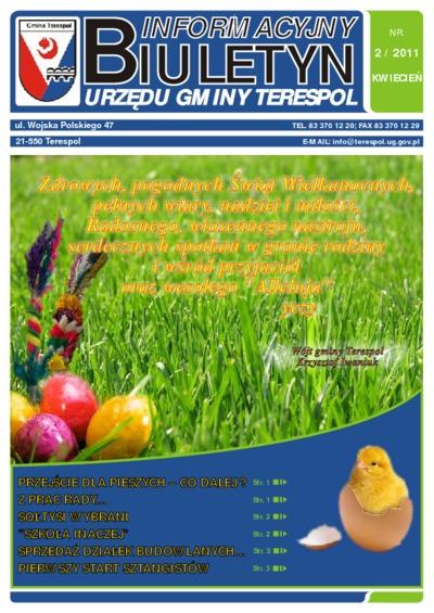 Biuletyn Informacyjny Urzędu Gminy w Terespolu R. 20 (2011) nr 2