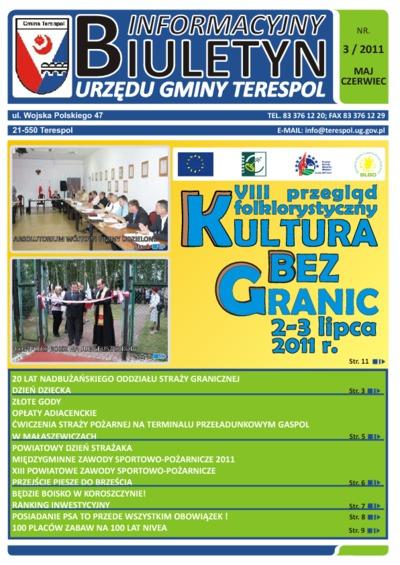 Biuletyn Informacyjny Urzędu Gminy w Terespolu R. 20 (2011) nr 3