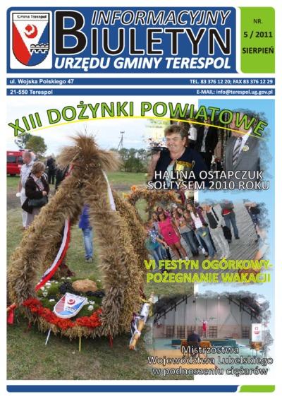 Biuletyn Informacyjny Urzędu Gminy w Terespolu R. 20 (2011) nr 5