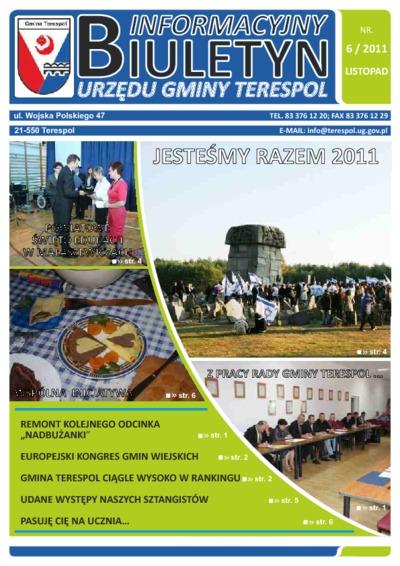 Biuletyn Informacyjny Urzędu Gminy w Terespolu R. 20 (2011) nr 6