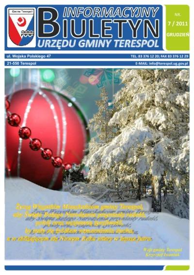 Biuletyn Informacyjny Urzędu Gminy w Terespolu R. 20 (2011) nr 7