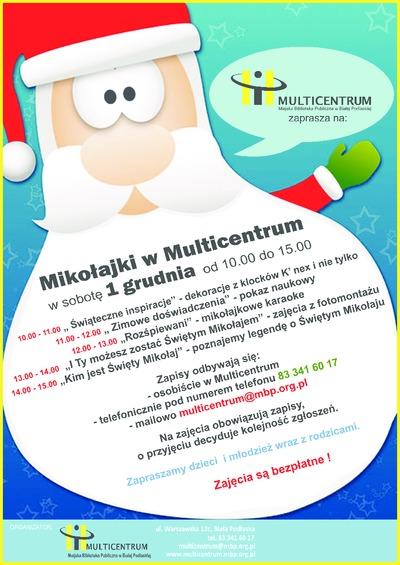 Plakat : Mikołajki w Multicentrum, 2012