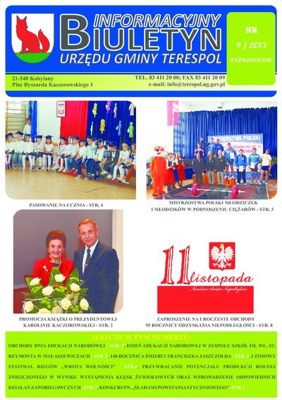 Biuletyn Informacyjny Urzędu Gminy w Terespolu R. 22 (2013) nr 9