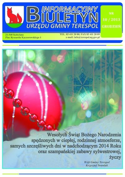 Biuletyn Informacyjny Urzędu Gminy w Terespolu R. 22 (2013) nr 10