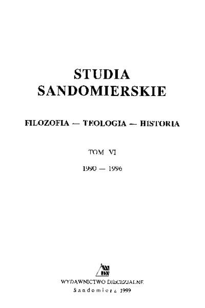 Studia Sandomierskie, Tom VI, 1990-1996 r.