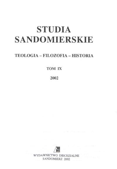 Studia Sandomierskie, Tom IX, 2002 r.