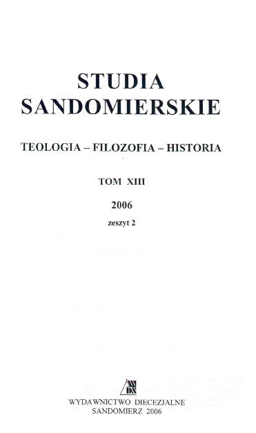 Studia Sandomierskie, Tom XIII, 2006 r., zeszyt 2