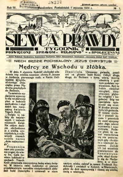 Siewca Prawdy, Rocznik IV, rok 1934