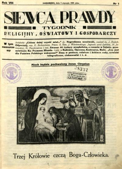 Siewca Prawdy, Rocznik VIII, rok 1938