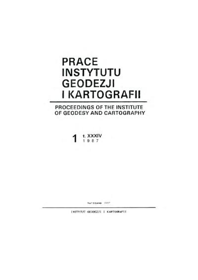 Prace Instytutu Geodezji i Kartografii 1987 z. 1(78) - wprowadzenie