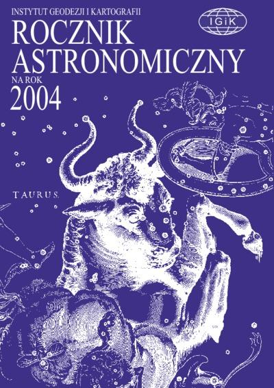 Rocznik Astronomiczny na rok 2004