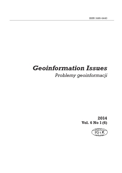 Geoinformation Issues 2014 Vol.6 No 1(6) - introduction