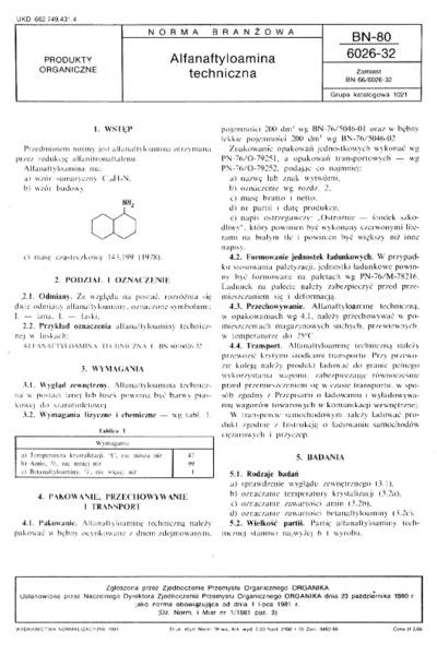 Alfanaftyloamina techniczna BN-80/6026-32