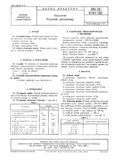 Odczynniki - Fluorek amonowy BN-79/6191-165