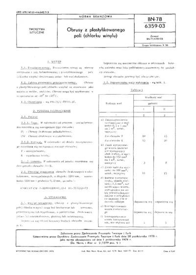 Obrusy z plastyfikowanego poli (chlorku winylu) BN-78/6359-03